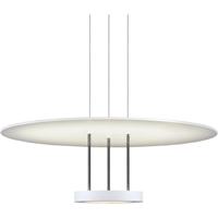 "Picture for category Pendants 1 Light Fixture With Satin White Tone Finish White Acrylic LED 7"" 29 Watts"