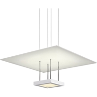 "Picture for category Pendants 1 Light Fixture With Satin White Finish White Acrylic LED 20"" 29 Watts"