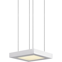 "Picture for category Pendants 1 Light Fixture With Satin White Tone Finish White Acrylic LED 6"" 29 Watts"