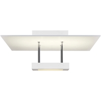 "Picture for category Semi Flush 1 Light Fixture With Satin White Finish White Acrylic LED 15"" 29 Watts"