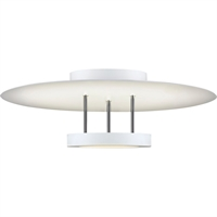 "Picture for category Semi Flush 1 Light Fixture With Satin White Finish White Acrylic LED 6"" 29 Watts"