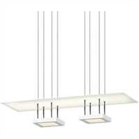 "Picture for category Pendants 1 Light Fixture With Satin White Finish White Acrylic LED 44"" 57 Watts"