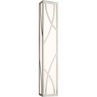 "Picture for category Bathroom Vanity 1 Light Fixture With Satin Nickel Finish White Glass LED 30"" 23 Watts"