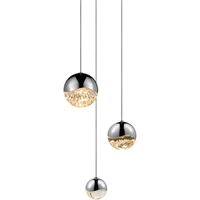 "Picture for category Pendants 3 Light Bulb Fixture With Polished Chrome Tone Finish LED 4"" 37.5 Watts"