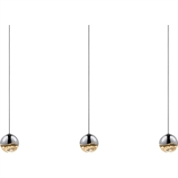 "Picture for category Pendants 3 Light Bulb Fixture With Polished Chrome Tone Finish LED 37"" 27 Watts"