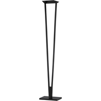 "Picture for category Floor Lamps 1 Light Bulb Fixture With Satin Black Tone Finish LED 14"" 33 Watts"