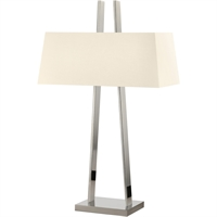 "Picture for category Table Lamps 2 Light Bulb Fixture With Polished Nickel Finish Medium 20"" 150 Watts"
