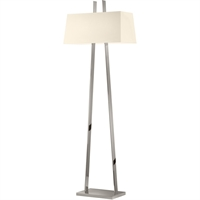 "Picture for category Floor Lamps 2 Light Bulb Fixture With Polished Nickel Finish Medium 22"" 200 Watts"