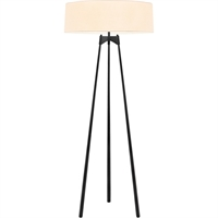 "Picture for category Floor Lamps 3 Light Bulb Fixture With Satin Black Finished Medium 65"" 300 Watts"