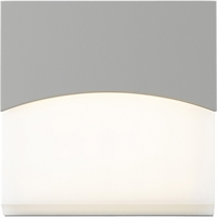 "Picture for category Wall Sconces 1 Light Fixture With Textured Gray Finish Metal Optical Acrylic LED Module 7"" 15 Watts"