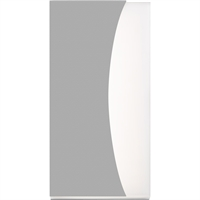 "Picture for category Wall Sconces 1 Light Fixture With Textured Gray Finish Metal Optical Acrylic LED Module 7"" 21 Watts"