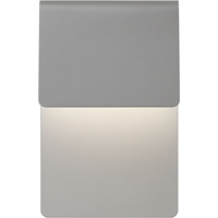 "Picture for category Wall Sconces 1 Light Fixture With Textured Gray Finish Metal Optical Acrylic LED Module 7"" 16 Watts"