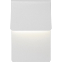 "Picture for category Wall Sconces 1 Light Fixture With Textured White Finish Metal Optical Acrylic LED Module 7"" 16 Watts"