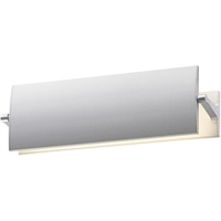 "Picture for category Wall Sconces 1 Light Bulb Fixture With Bright Satin Aluminum Finish LED 12"" 10 Watts"