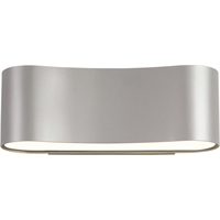 "Picture for category Wall Sconces 1 Light Fixture With Bright Satin Aluminum Finish LED 13"" 21 Watts"