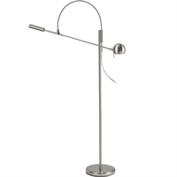 "Picture for category Floor Lamps 1 Light Bulb Fixture With Satin Nickel Tone Finish MR 58"" 50 Watts"