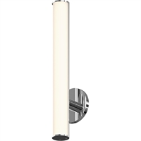 "Picture for category Bathroom Vanity 1 Light Bulb Fixture With Polished Chrome Finish Metal / Glass Integrated 2"" 11 Watts"