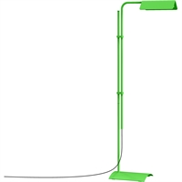 "Picture for category Floor Lamps 1 Light Bulb Fixture With Satin Green Finish Metal / Aluminum Integrated 7"" 8 Watts"