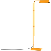 "Picture for category Floor Lamps 1 Light Bulb Fixture With Satin Orange Finish Metal / Aluminum Integrated 7"" 8 Watts"