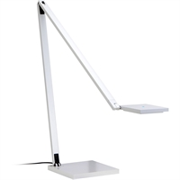 "Picture for category Desk Lamps 1 Light Bulb Fixture With Gloss White Tone Finished LED 15"" 6 Watts"