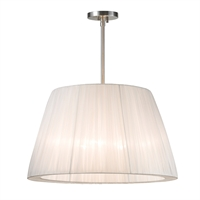 "Picture for category Pendants 3 Light Bulb Fixture With Satin Nickel Tone Finished E26 14"" 180 Watts"