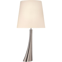 "Picture for category Table Lamps 1 Light Bulb Fixture With Satin Nickel Tone Finish E26 34"" 150 Watts"