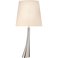 "Picture for category Table Lamps 1 Light Bulb Fixture With Polished Nickel Finish E26 34"" 150 Watts"