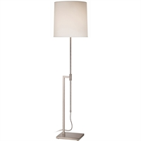 "Picture for category Floor Lamps 1 Light Bulb Fixture With Satin Nickel Tone Finish A19 47"" 150 Watts"