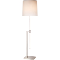 "Picture for category Floor Lamps 1 Light Bulb Fixture With Polished Nickel Finish A19 47"" 150 Watts"