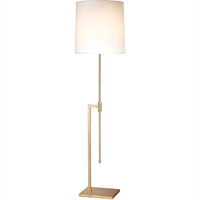 "Picture for category Floor Lamps 1 Light Bulb Fixture With Satin Brass Tone Finish A19 47"" 150 Watts"