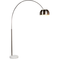 "Picture for category Floor Lamps 1 Light Bulb Fixture With Satin Nickel Tone Finish A19 79"" 100 Watts"