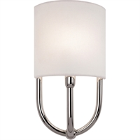 "Picture for category Wall Sconces 1 Light Bulb Fixture With Polished Nickel Finish E-12 7"" 60 Watts"