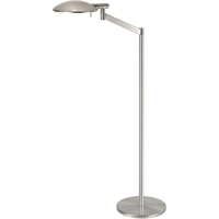 "Picture for category Floor Lamps 1 Light Bulb Fixture With Satin Nickel Finished Xenon 14"" 75 Watts"
