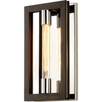 Picture for category Troy Lighting B6181 Wall Sconces Bronze with Polished Stainless Hand-Worked Iron Enigma