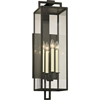 Picture for category Troy Lighting B6383 Wall Sconces Forged Iron Hand-Worked Iron / Glass Beckham