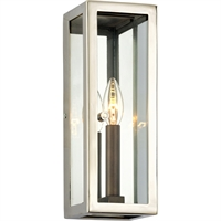 Picture for category Troy Lighting B6511 Wall Sconces Bronze with Polished Stainless Stainless Steel / Glass Morgan