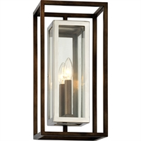 Picture for category Troy Lighting B6512 Wall Sconces Bronze with Polished Stainless Stainless Steel / Glass Morgan