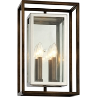 Picture for category Troy Lighting B6513 Wall Sconces Bronze with Polished Stainless Stainless Steel / Glass Morgan