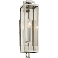 Picture for category Troy Lighting B6531 Wall Sconces Polished Stainless Hand-Worked Iron / Glass Beckham