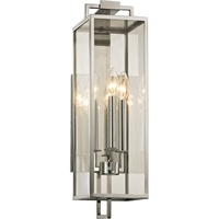 Picture for category Troy Lighting B6532 Wall Sconces Polished Stainless Hand-Worked Iron / Glass Beckham