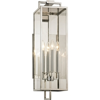 Picture for category Troy Lighting B6533 Wall Sconces Polished Stainless Hand-Worked Iron / Glass Beckham