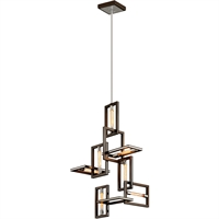 Picture for category Troy Lighting F6187 Pendants Bronze with Polished Stainless Hand-Worked Iron Enigma