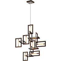 Picture for category Troy Lighting F6189 Pendants Bronze with Polished Stainless Hand-Worked Iron Enigma