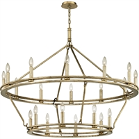 Picture for category Troy Lighting F6249 Chandeliers Champagne Siler Leaf Hand-Worked Iron Sutton