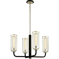 Picture for category Troy Lighting F6274 Chandeliers Carbide Black with Polished Nickel Hand-Worked Iron / Glass Aeon