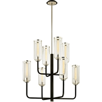 Picture for category Troy Lighting F6278 Chandeliers Carbide Black with Polished Nickel Hand-Worked Iron / Glass Aeon