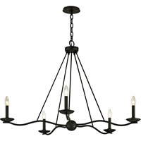 Picture for category Troy Lighting F6305 Chandeliers Forged Iron Hand-Worked Iron Sawyer