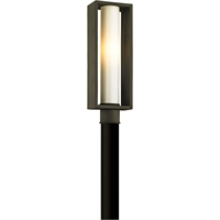 Picture for category Troy Lighting P6495 Outdoor Post Light Textured Bronze Solid Aluminum / Glass Mondrian
