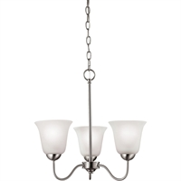 Picture for category Thomas Lighting 1203CH/20 Chandeliers Brushed Nickel Steel,Glass Conway