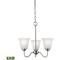Picture for category Thomas Lighting 1203CH/20-LED Chandeliers Brushed Nickel Steel,Glass Conway